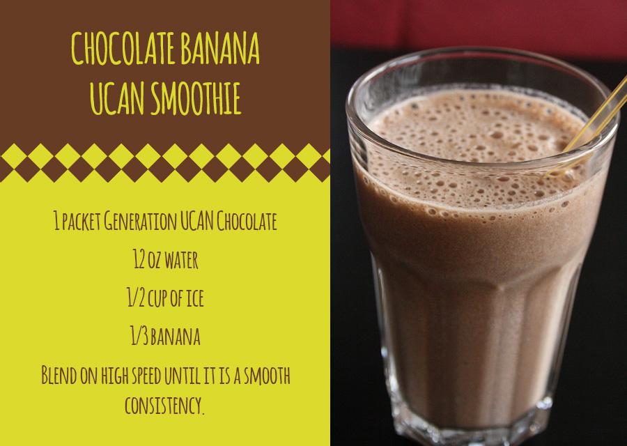 UCAN Chocolate Banana Smoothie Recipe