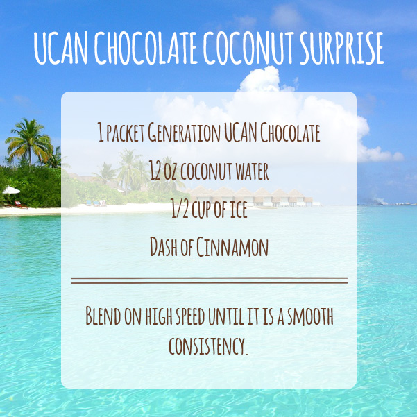 UCAN Chocolate Coconut Surprise Recipe